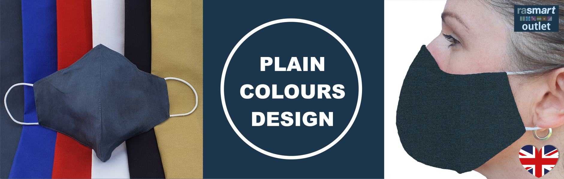 Plain Colours Design Face Masks