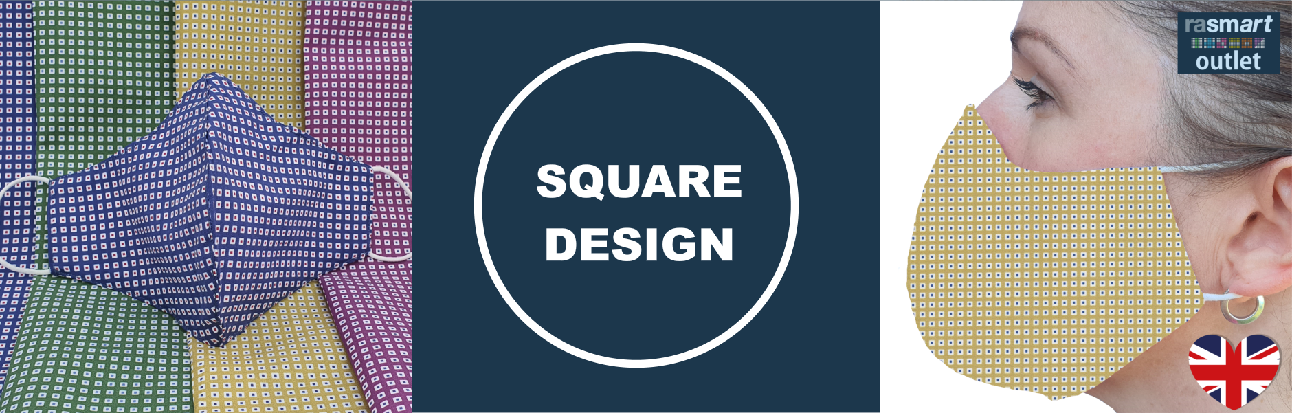 Square Face Mask Design Collection