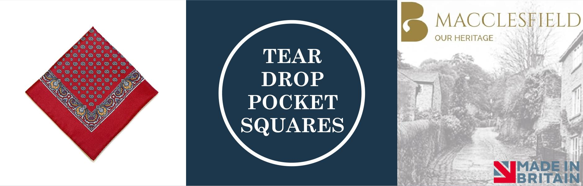 Tear Drop Silk Pocket Squares