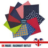 32 Patchwork Squares - Luxurious 100% Pure Silk - British Made