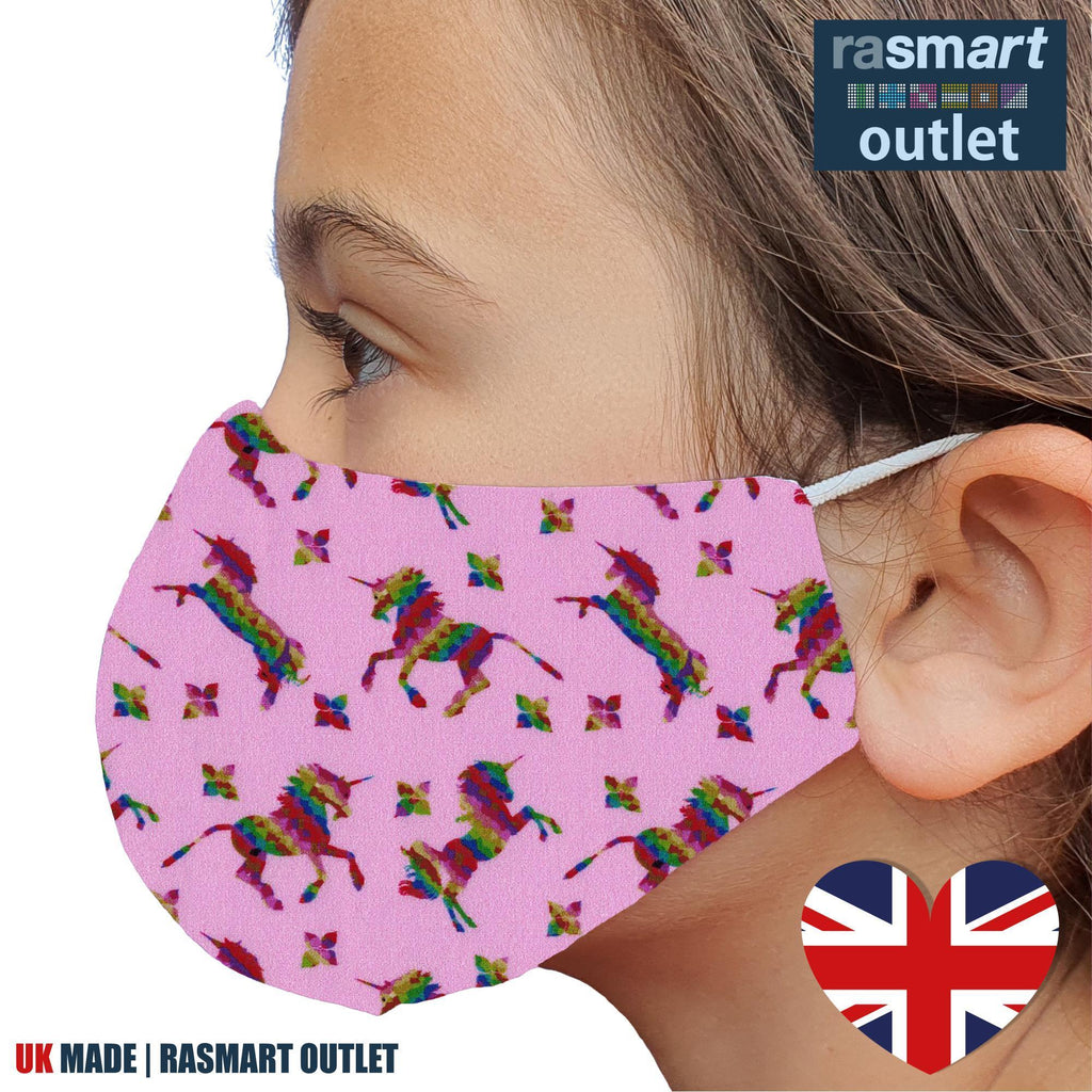 Face Masks - Kids Designs - 100% Pure Cotton - British Made
