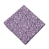 Floral Silk Scarve Purple Design - 100% Pure Silk Scarf - British Made