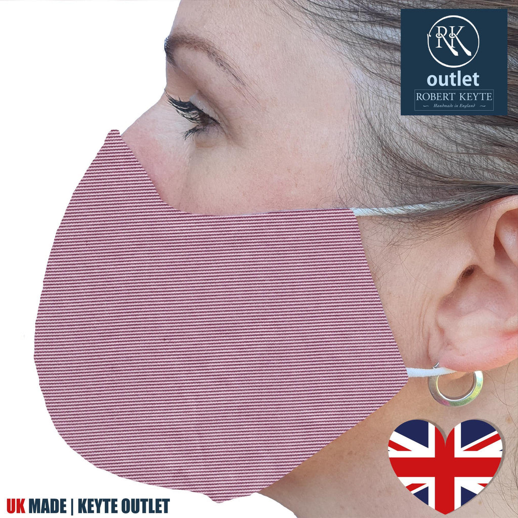 Woven Silk Face Mask - Pink Plain Colour Design - 100% Pure Silk - British Made