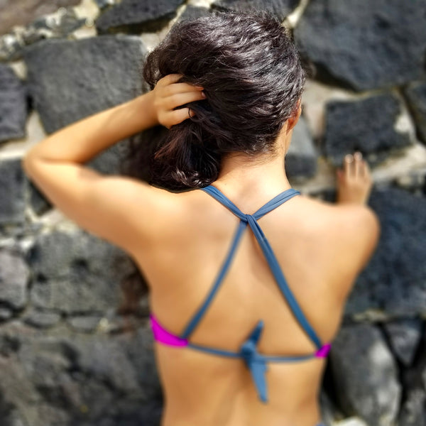 Very Fuchsia/Asphalt Bequia X Back Top