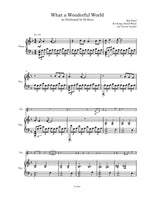 What a Wonderful World Sheet Music | Violin & Piano | 92 Keys