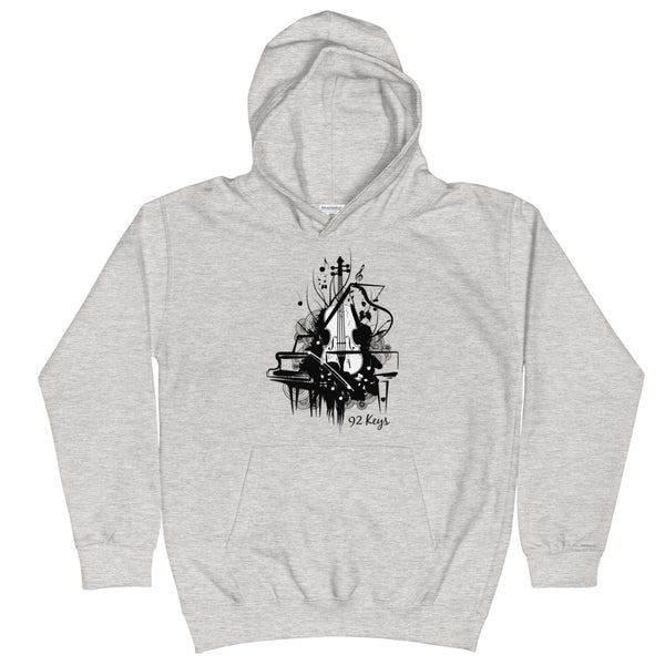 Kids Hoodie - Violin & Piano Design - 92 Keys