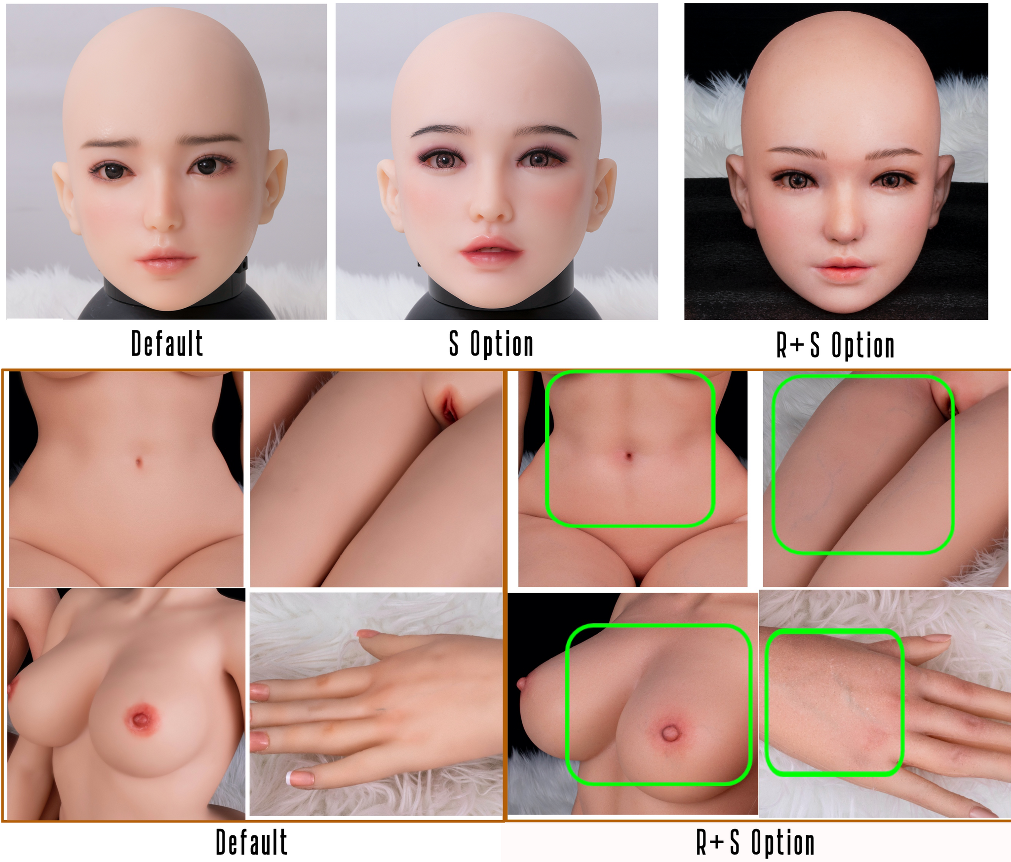 myrobotdoll.com Sino-doll R+S effect comparison