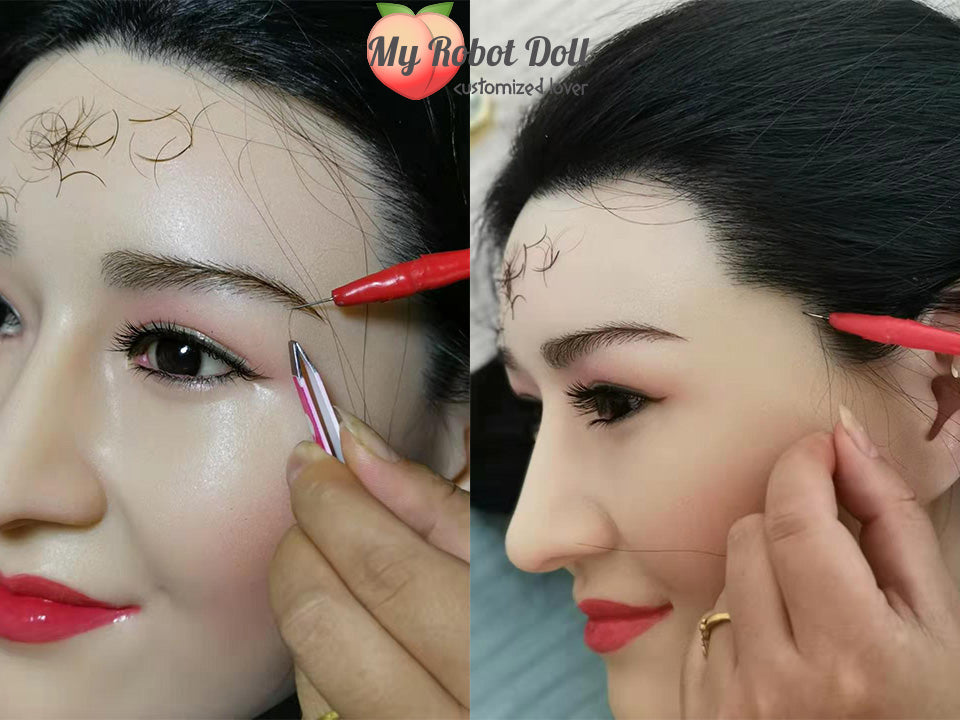 myrobotdoll.com which sex doll brand offers the most custom options eyebrow and hair implants