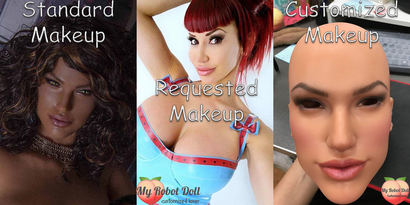 MyRobotDoll.com custom makeup on Sino-doll S14