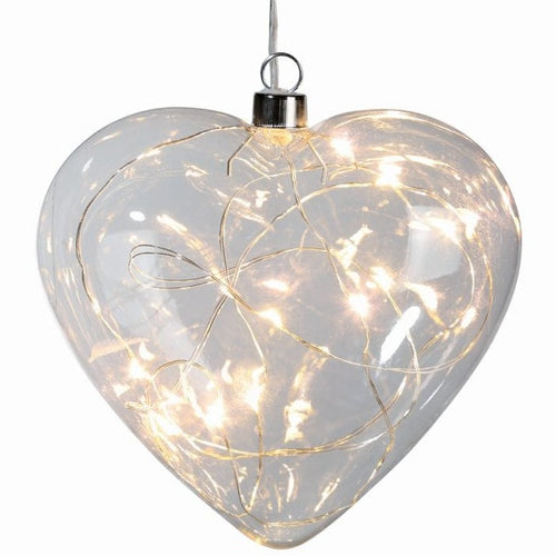 Hanging Glass Heart Light