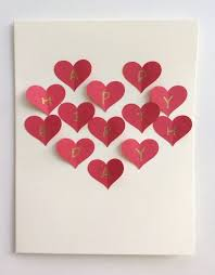 A selection of romantic cards are available