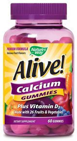 Alive Calcium Plus Vitamin D-3 60 gummies
