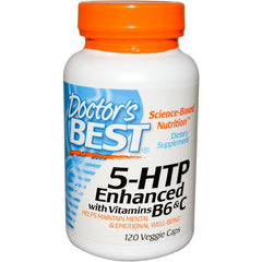 5-HTP, Enhanced with Vitamins B6 & C, 120 Vcaps (Doctor's Best)