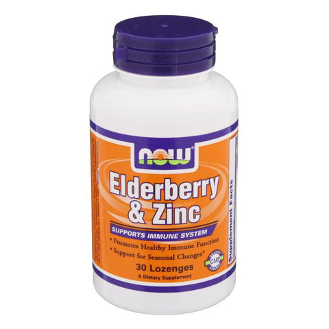 Elderberry & Zinc, 30 Lozenges (Now Foods)