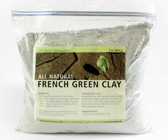 French Green Clay, All Natural, 1 lb