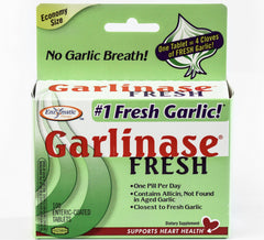 Garlinase Fresh, 5000 mcg of Allicin, 100 Enteric-coated Tablets