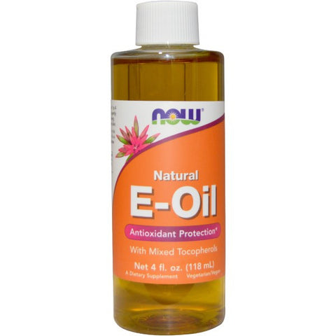 Natural E-Oil, 4 fl oz (Now Foods)