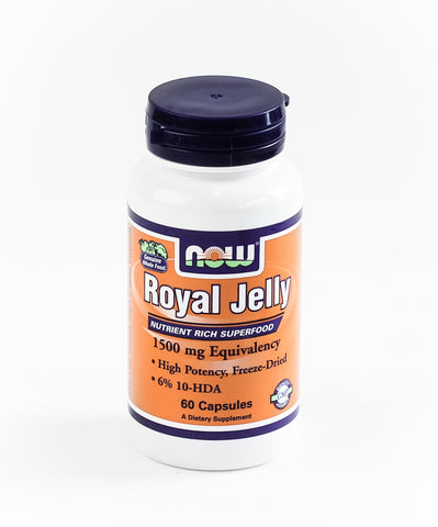 Royal Jelly, 1500 mg Equivalency, 60 Capsules (Now Foods)
