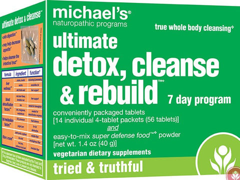 Ultimate Detox, Cleanse & Rebuild, 7 Day Program, 56 Tablets