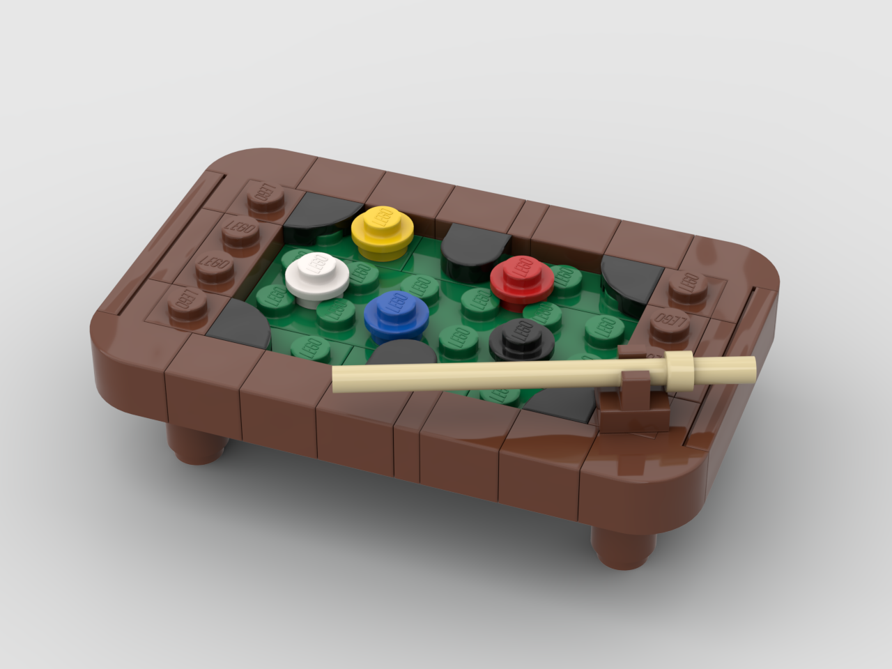 How to build lego pool table