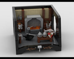 MOC - Medieval Blacksmith with a special stand