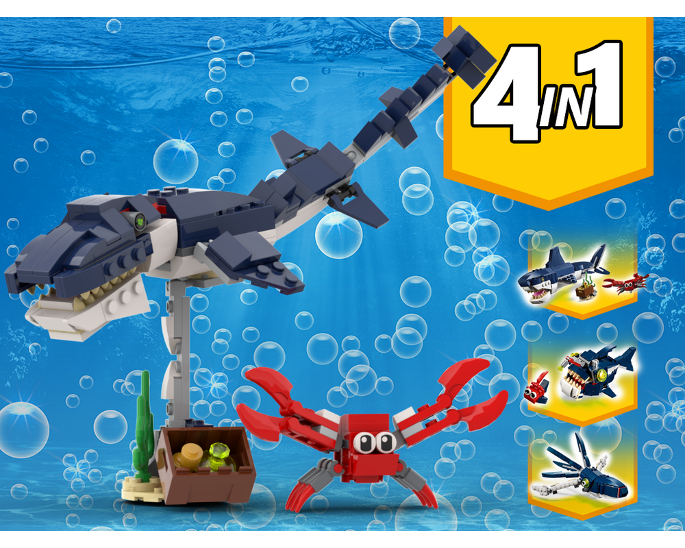 MOC - 31088 Sea Dinosaur Alternative Build