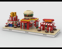 MOC - Fast Food mini modular ZOO