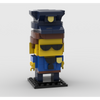 MOC - Police Man BrickHeadz - How to build it
