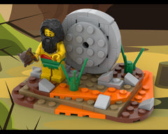 MOC - The invention of the wheel - Caveman