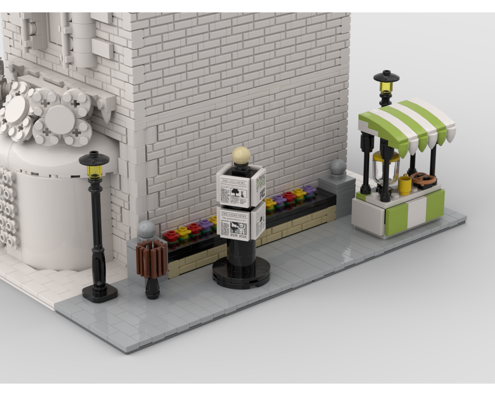MOC - Modular Corner Lemonade Stand | Turn every modular model into a corner