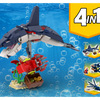 MOC - 31088 Dolphin with Squid and fish Alternative Build - How to build it