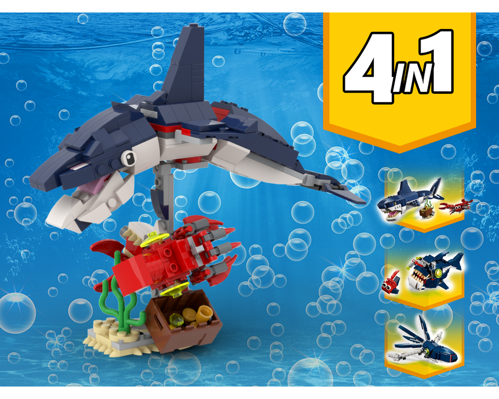MOC - 31088 Dolphin with Squid and fish Alternative Build