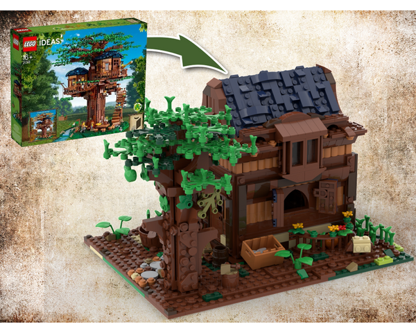 MOC - 21318 Modular Medieval House Alternative Build