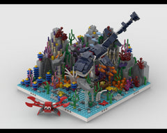 MOC - Coral Reef + 31088 Sea Dinosaur Alternative Build