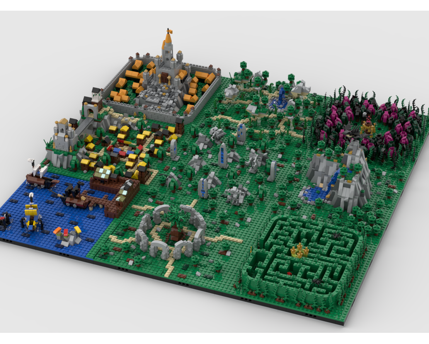 MOC - Fantasy World | Build from 9 MOCs