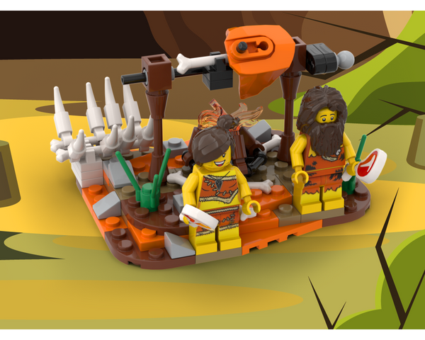 MOC - A hunter's meal - Caveman - How to build it