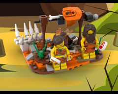 MOC - A hunter's meal - Caveman