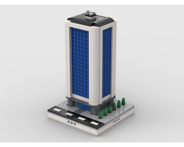 MOC - Skyscraper building #5 | for modular city - How to build it