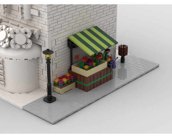 MOC - Modular Corner Flower Stand | Turn every modular model into a corner - How to build it
