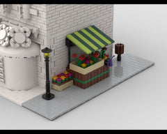 MOC - Modular Corner Flower Stand | Turn every modular model into a corner