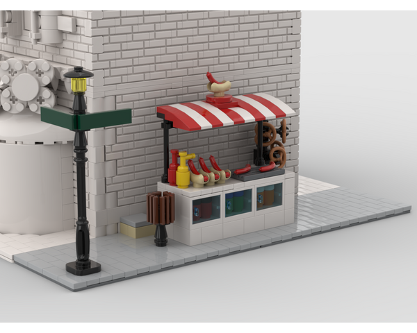 MOC - Modular Corner Hot Dog Stand | Turn every modular model into a corner