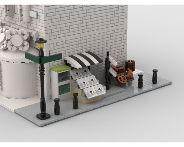 MOC - Modular Corner Newsstand | Turn every modular model into a corner - How to build it