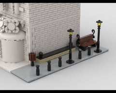 MOC - Modular Corner simple street | Turn every modular model into a corner