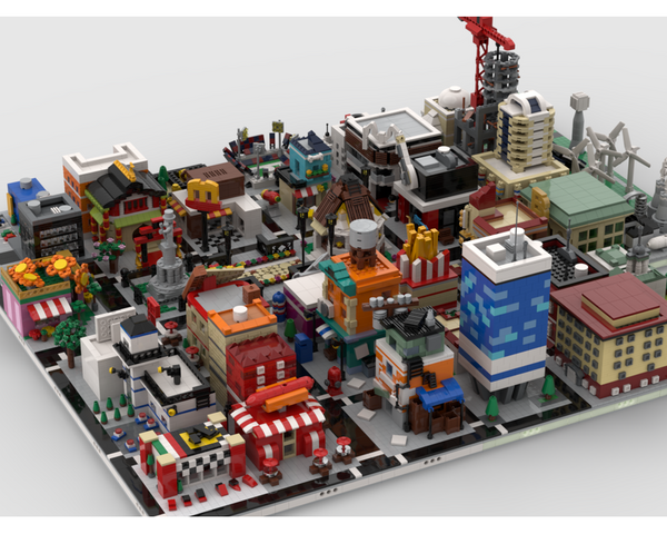 MOC - Modular City | build from 41 different mocs - How to build it