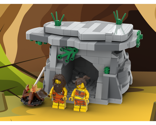 MOC - Caveman House - How to build it