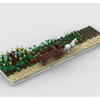 MOC - Agricultural fields + Horse cart for a Modular Village - How to build it