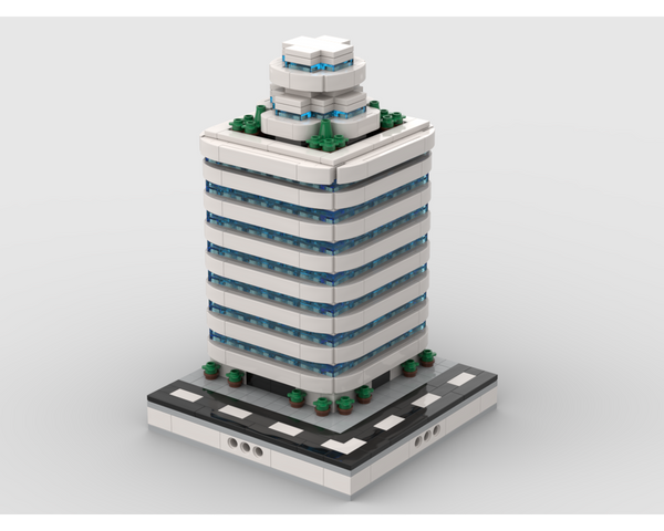 MOC - Skyscraper building #7 | for modular city - How to build it