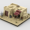 MOC - Desert Pub #4 for a Modular Desert space village - How to build it