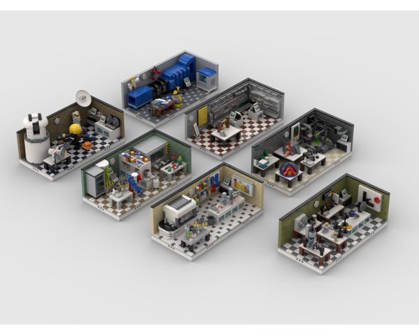 MOC - Lab Set Pack | build from 7 mocs - How to build it
