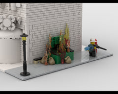 MOC - Modular Corner Fire Man | Turn every modular model into a corner